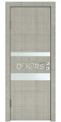 Дверь межкомнатная DO-512 Серый дуб/Снег