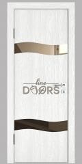 Дверь межкомнатная DO-503 Белый глубокий/зеркало Бронза