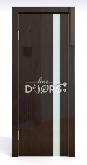 Дверь межкомнатная DO-507 Венге глянец/стекло Белое
