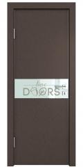 Дверь межкомнатная DO-509 Бронза/стекло Белое