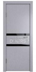 Дверь межкомнатная DO-513 Металлик/стекло Черное