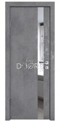 Дверь межкомнатная DO-507 Бетон темный/Зеркало