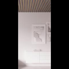 Декоративная рейка на потолок Камень тёмный