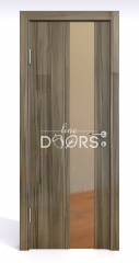 Дверь межкомнатная DO-504 Сосна глянец/зеркало Бронза