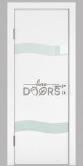 Дверь межкомнатная DO-503 Белый бархат/стекло Белое