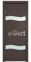 Дверь межкомнатная DO-503 Бронза/стекло Белое
