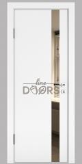 Дверь межкомнатная DO-507 Белый бархат/зеркало Бронза