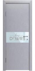 Дверь межкомнатная DO-501 Металлик/стекло Белое