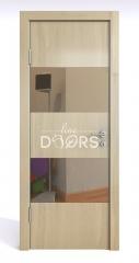 Дверь межкомнатная DO-508 Анегри светлый/зеркало Бронза