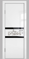 ШИ дверь DO-613 Белый глянец/стекло Черное