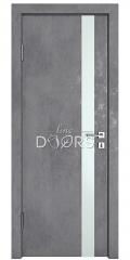 Дверь межкомнатная DO-507 Бетон темный/Снег