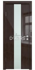 Дверь межкомнатная DO-510 Венге глянец/стекло Белое
