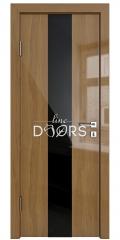 Дверь межкомнатная DO-510 Анегри темный/стекло Черное