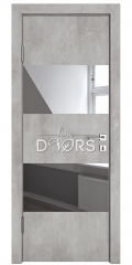 ШИ дверь DO-608 Бетон светлый/Зеркало