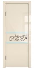 ШИ дверь DO-613 Ваниль глянец/стекло Белое