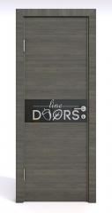 Дверь межкомнатная DO-509 Ольха темная/стекло Черное