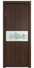 ШИ дверь DO-601 Мокко/стекло Белое