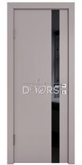 Дверь межкомнатная DO-507 Серый бархат/стекло Черное