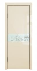 ШИ дверь DO-609 Ваниль глянец/стекло Белое