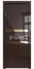 Дверь межкомнатная DO-512 Венге глянец/зеркало Бронза