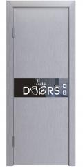 Дверь межкомнатная DO-509 Металлик/стекло Черное