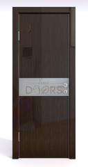 Дверь межкомнатная DO-509 Венге глянец/Снег
