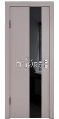 Дверь межкомнатная DO-504 Серый бархат/стекло Черное