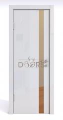 Дверь межкомнатная DO-507 Белый глянец/зеркало Бронза