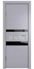 Дверь межкомнатная DO-512 Металлик/стекло Черное