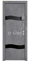 ШИ дверь DO-603 Бетон темный/стекло Черное