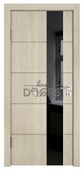 Дверь межкомнатная TL-DO-504 Клен/стекло Черное