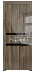 Дверь межкомнатная DO-513 Сосна глянец/стекло Черное