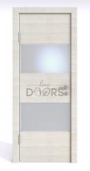 Дверь межкомнатная DO-508 Ива светлая/Снег