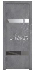 Дверь межкомнатная DO-502 Бетон темный/Зеркало