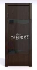 ШИ дверь DO-603 Венге глянец/стекло Черное