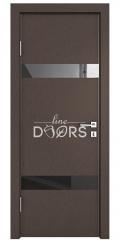ШИ дверь DO-602 Бронза/стекло Черное