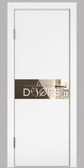 ШИ дверь DO-609 Белый бархат/зеркало Бронза
