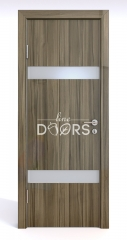 Дверь межкомнатная DO-502 Сосна глянец/Снег