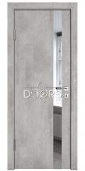Дверь межкомнатная DO-507 Бетон светлый/Зеркало
