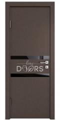 ШИ дверь DO-613 Бронза/стекло Черное