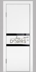 Дверь межкомнатная DO-513 Белый бархат/стекло Черное