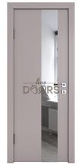 Дверь межкомнатная DO-504 Серый бархат/Зеркало