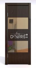 Дверь межкомнатная DO-508 Венге глянец/зеркало Бронза