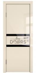 ШИ дверь DO-613 Ваниль глянец/стекло Черное