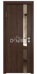 Дверь межкомнатная DO-507 Мокко/зеркало Бронза