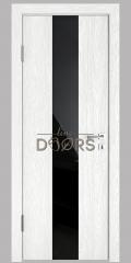 ШИ дверь DO-610 Белый глубокий/стекло Черное