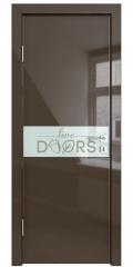 Дверь межкомнатная DO-509 Шоколад глянец/стекло Белое