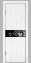 ШИ дверь DO-609 Белый глубокий/стекло Черное