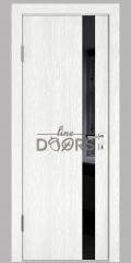 Дверь межкомнатная DO-507 Белый глубокий/стекло Черное