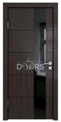 Дверь межкомнатная TL-DO-504 Акация/стекло Черное